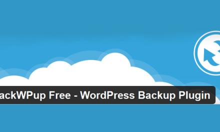 Backup WordPress with BackWPup