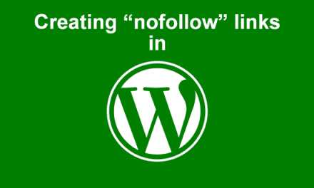 Creating nofollow links in WordPress
