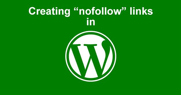 Creating nofollow links in WordPress