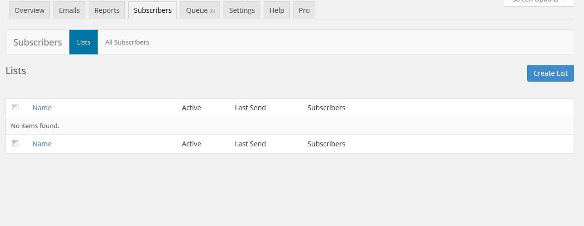 SendPress Subscribers Tab
