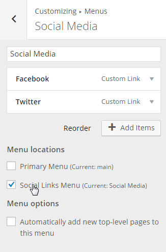 Customize-Menu-Social Media