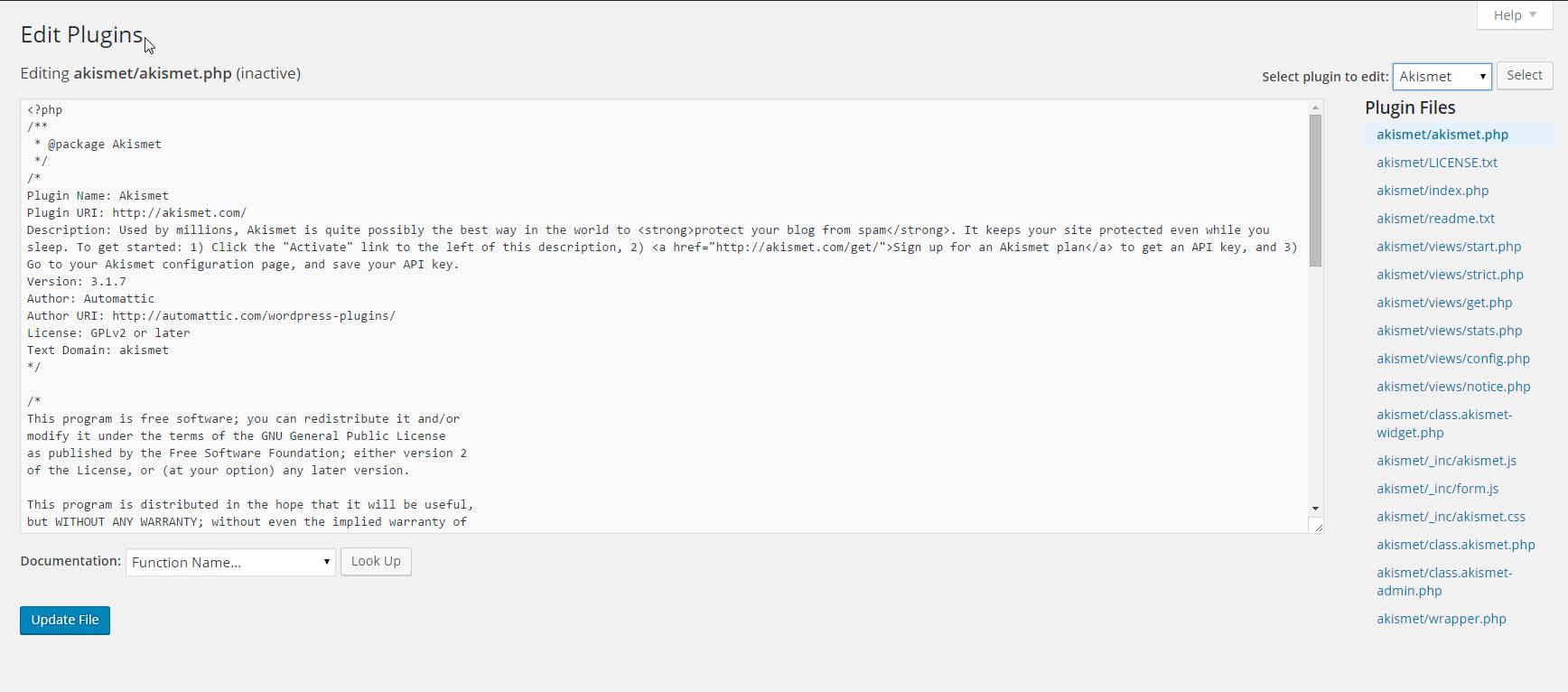 Edit Plugins