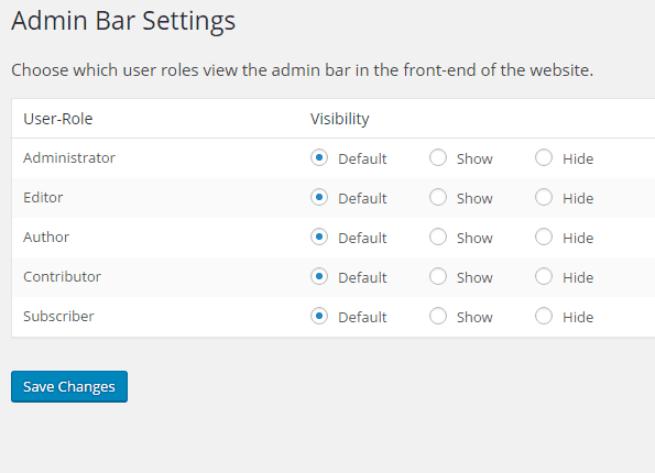 profile-builder-admin-bar-settings