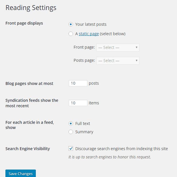 Settings-Reading