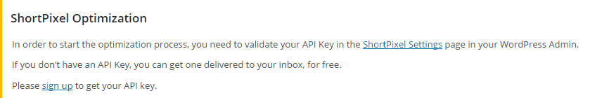 ShortPixel-Validate your API