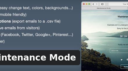 WP Maintenance Mode for WordPress