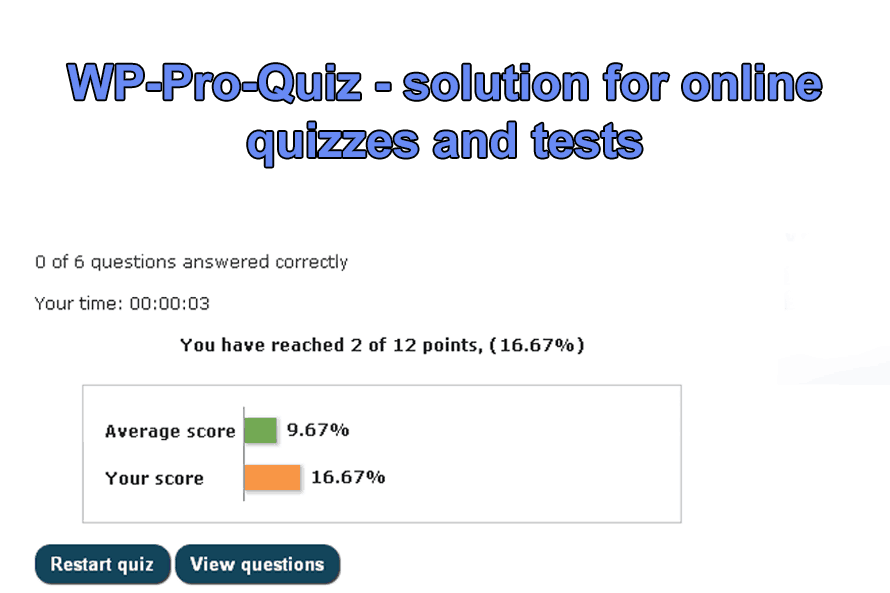 WP-Pro-Quiz – solution for online quizzes and tests