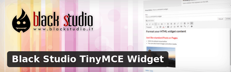 Improve your sidebar widgets with Black Studio TinyMCE Widget