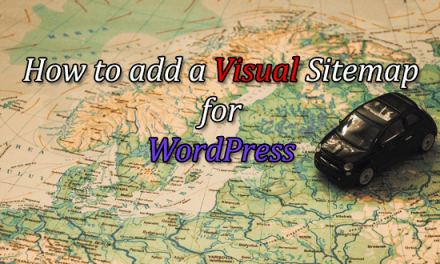 How to add a Visual Sitemap for WordPress