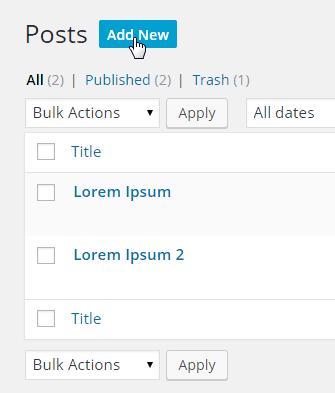 All Posts-Add New