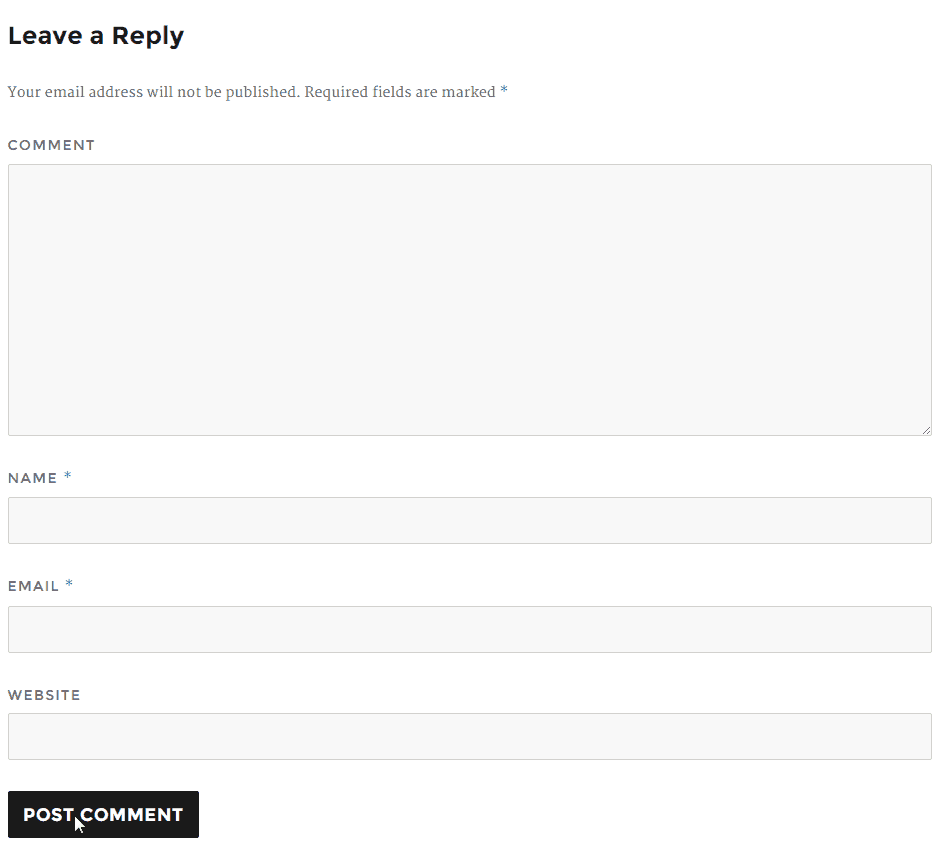 Post Page Comments