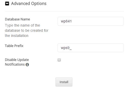 Softaculous Advanced Options