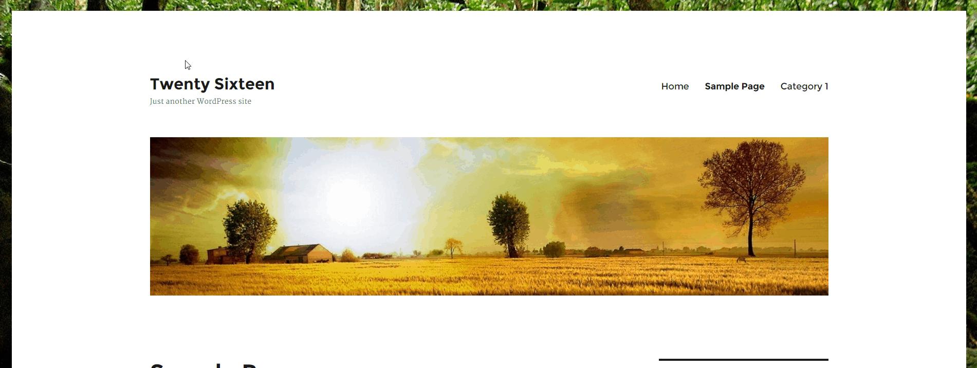Background Image+Header Image