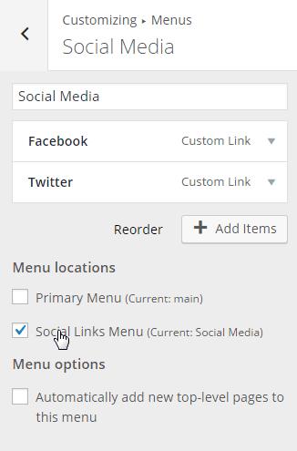 Customize-Menu-Social Media