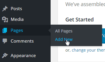 Pages-Add New