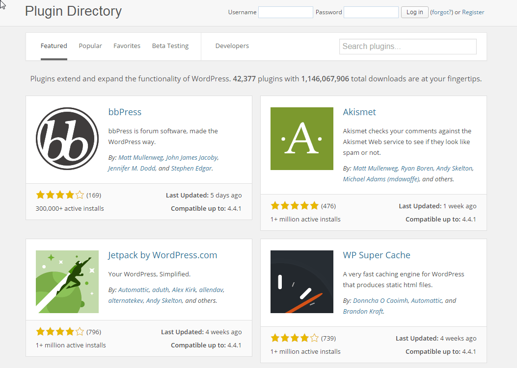 Plugin Reposatory-WordPress.org