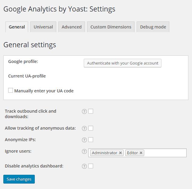 google-analytics-by-yoast-settings