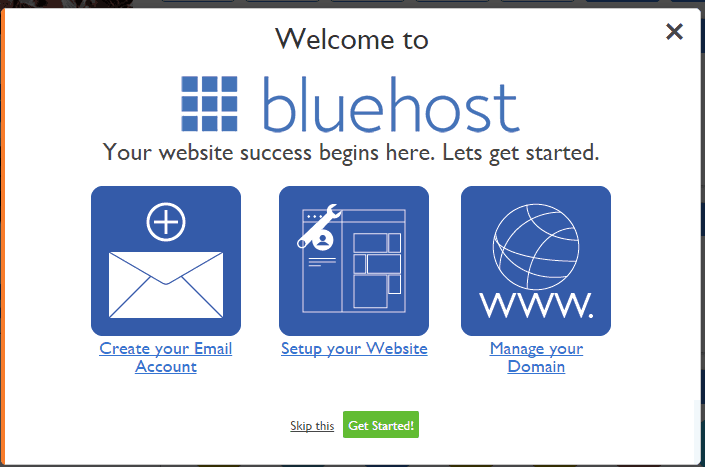 Bluehost-welcome