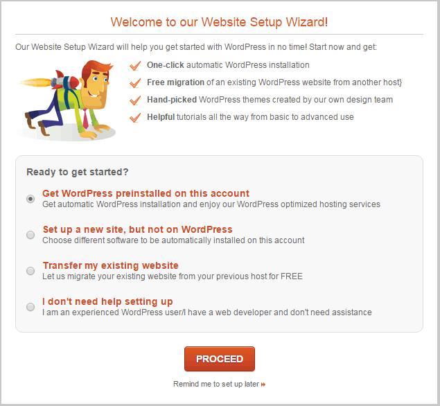 SiteGround-website-setup-wizzard