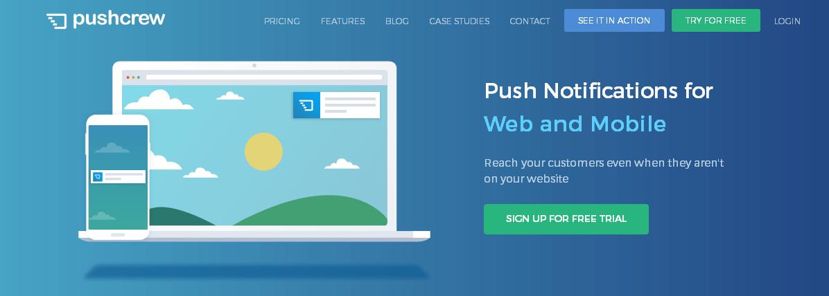 PushCrew - quality web push notifications for WordPress websites